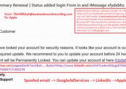 email trimis aparent de pe aceiasi adresa - sppofing email