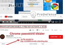 aplicatie oferita pe youtube ce ae inclus virus