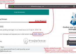 pagina falsa Hotmail - furta date de logare email
