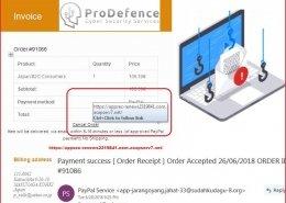 pagina falsa Paypal pentru furt de date
